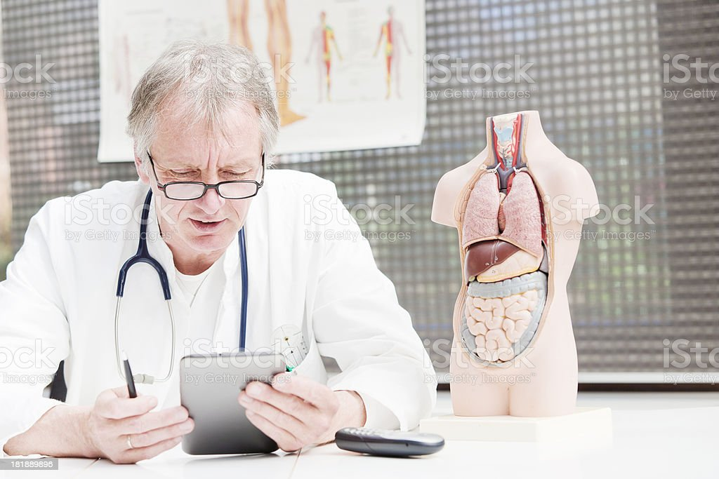 Medicine using tablet PC stock photo