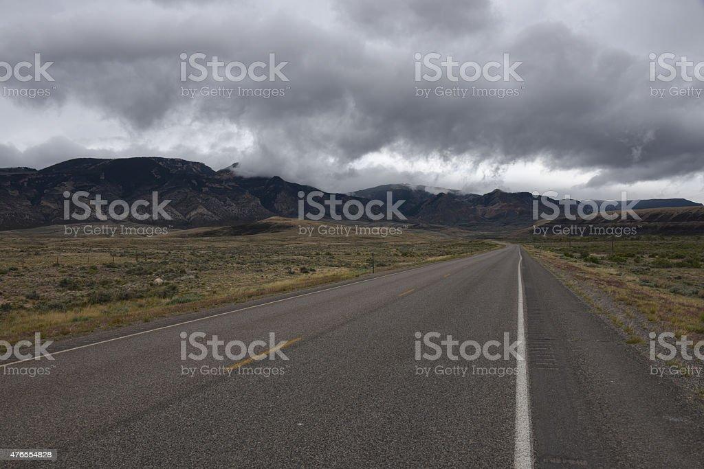 Medicine Wheel Scenic Byway - U.S. Highway 14A stock photo