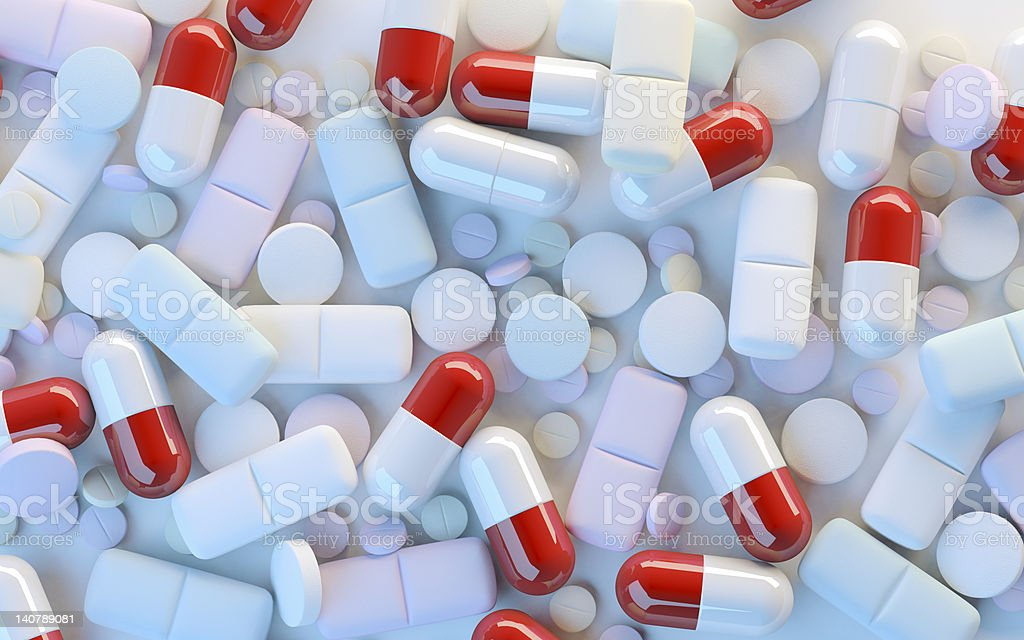 Medicinel capsules royalty-free stock photo