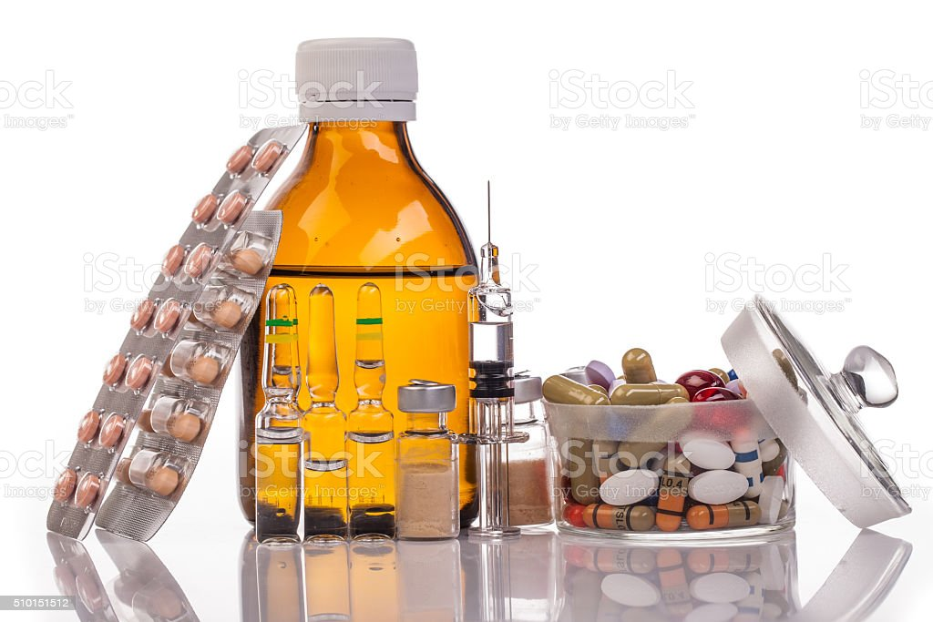 medicines and drugs stock photo