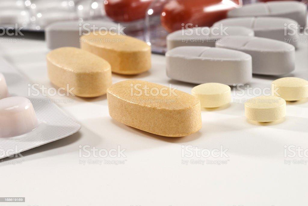 Medicine,vitamins,antioxidant pills royalty-free stock photo