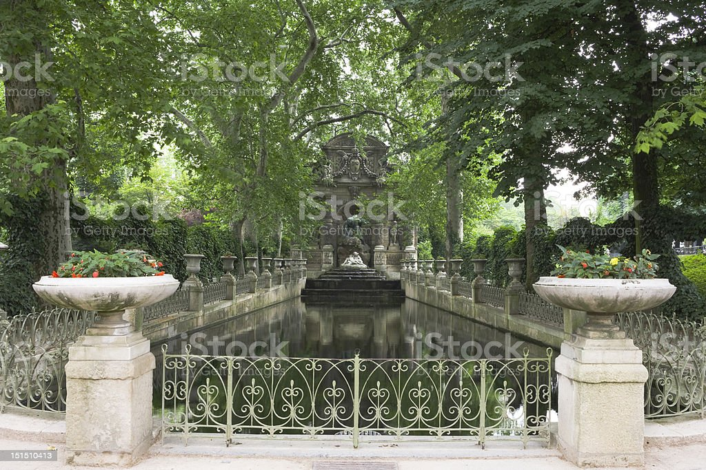 Medicis Fountain in Luxembourg Gardens, Paris, France royalty-free stock photo