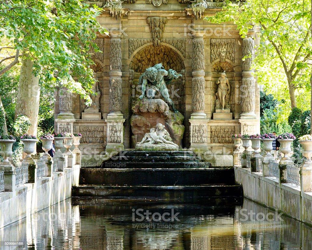 Medicis Fountain stock photo