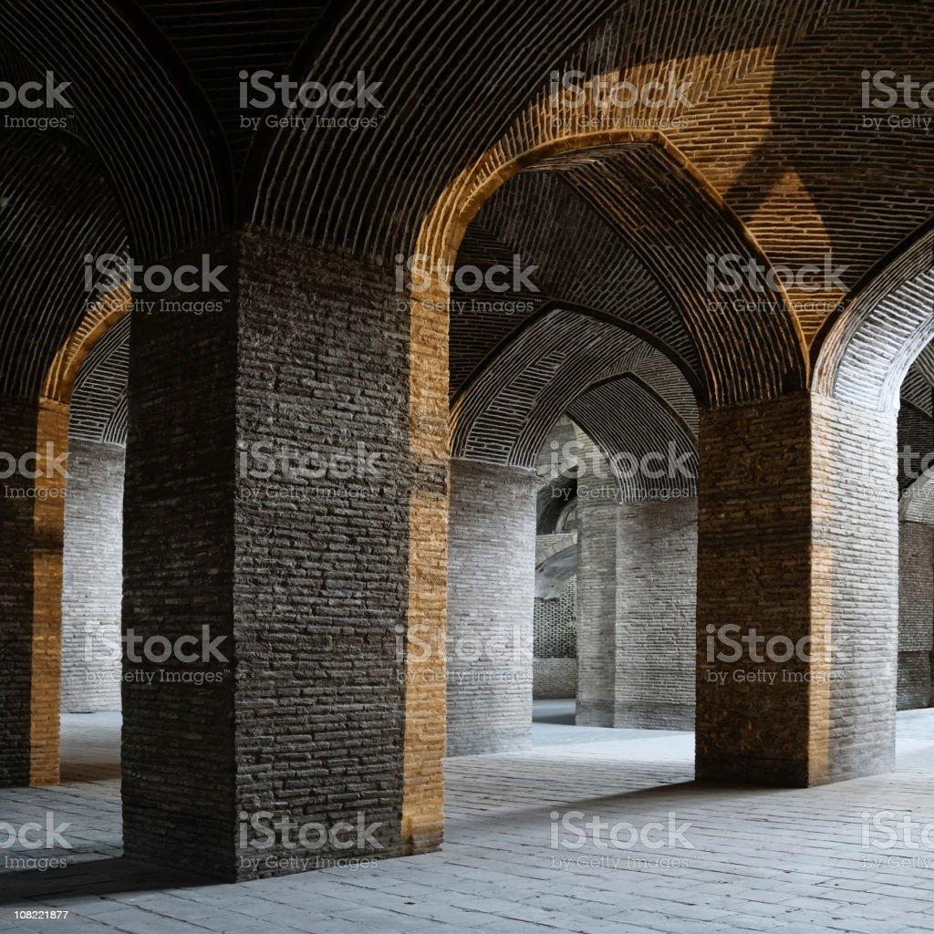Medieaval Building, The Masjid-i Jami, Isfahan, Iran royalty-free stock photo
