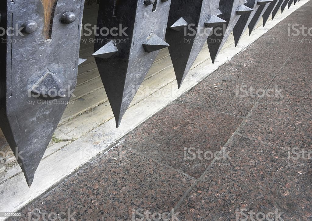 Medieaval portcullis royalty-free stock photo