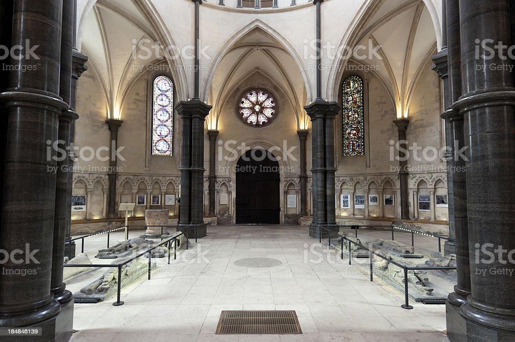 Medieaval Temple Church, London stock photo