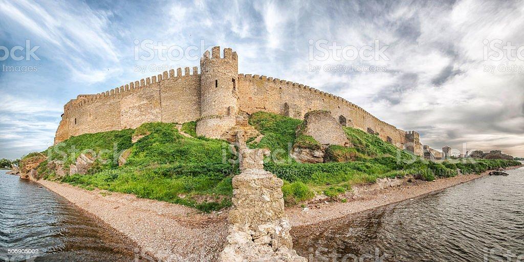 Medieval Akkerman fortress near Odessa in Ukraine stock photo