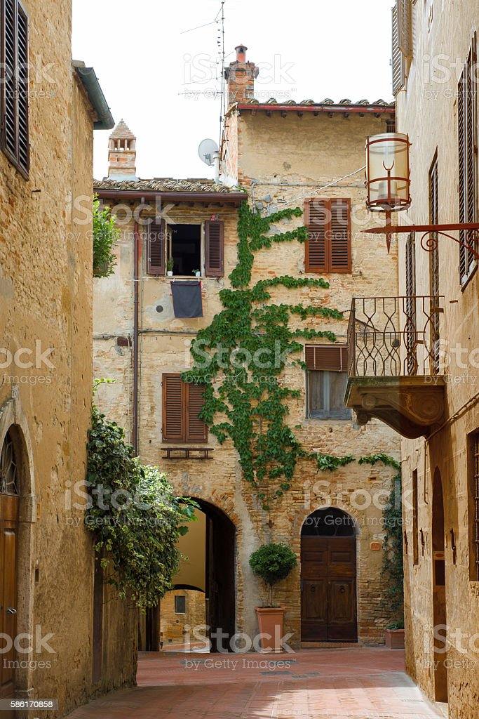 Medieval alley royalty-free stock photo