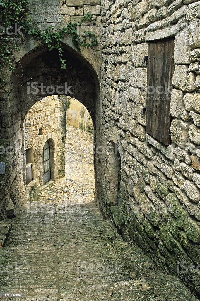 Medieval Alleyway royalty-free stock photo
