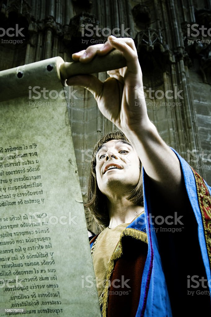 Medieval announcement stock photo