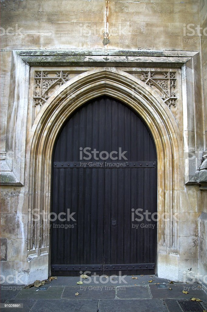 Medieval Arched Doorway Southwark Cathedral stock photo
