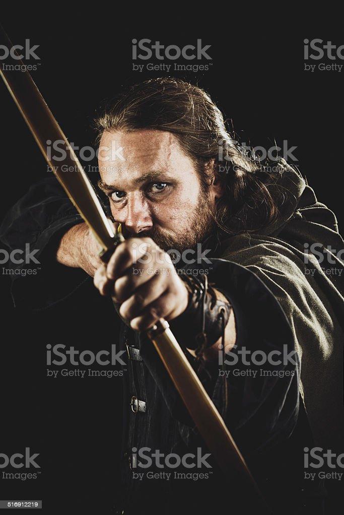 Medieval Archer stock photo