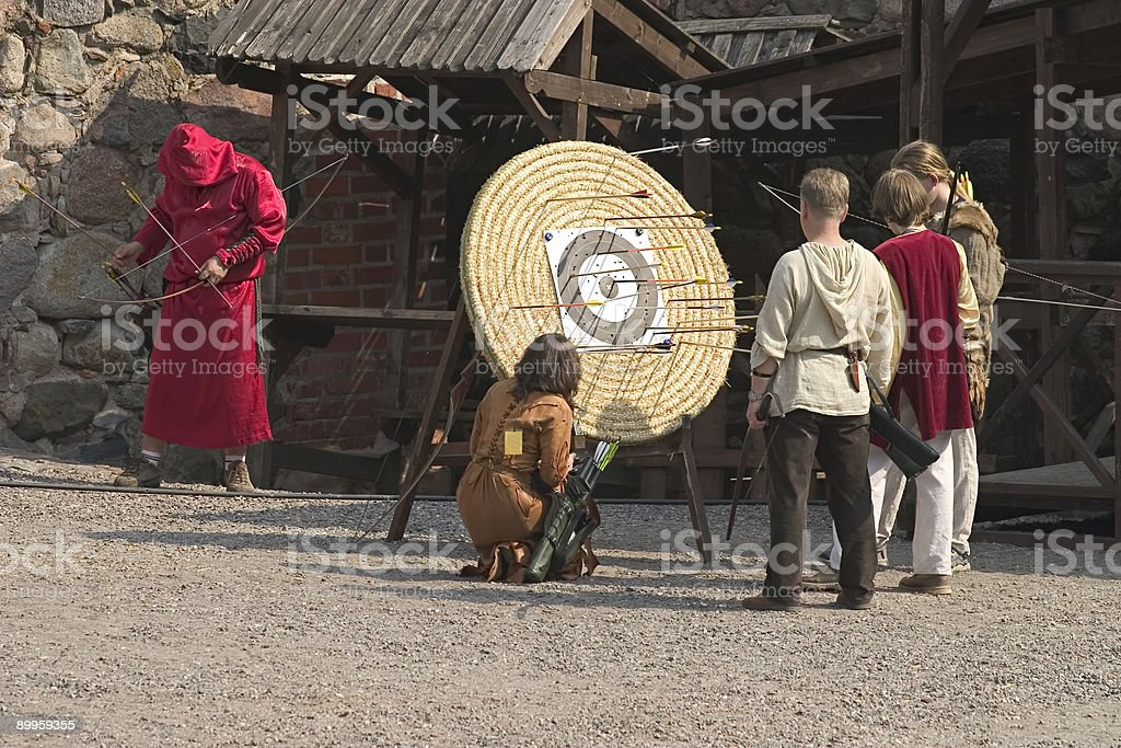 'Medieval' Archers royalty-free stock photo