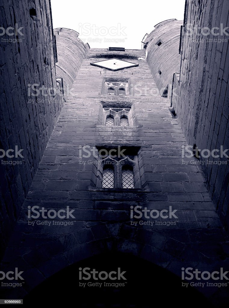Medieval architecture at its greatest stock photo