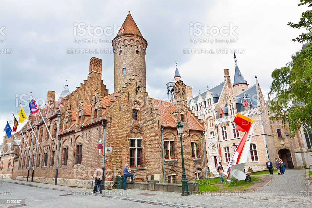 Medieval Architecture of Bruges. royalty-free stock photo
