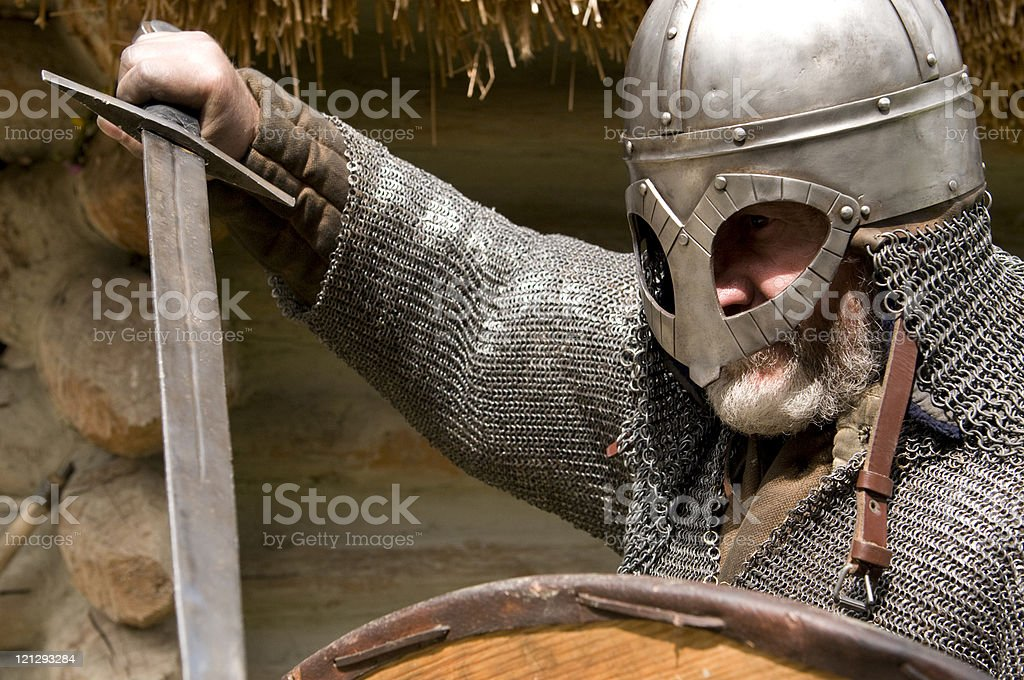 medieval armored knight stock photo