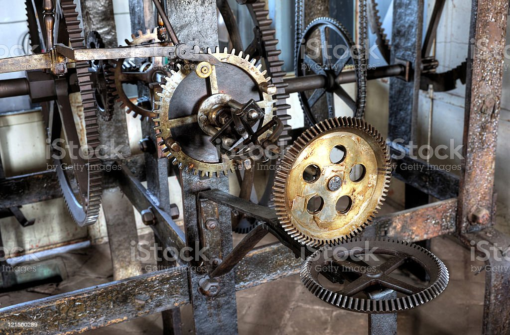 Medieval  astronomical clock - detail royalty-free stock photo