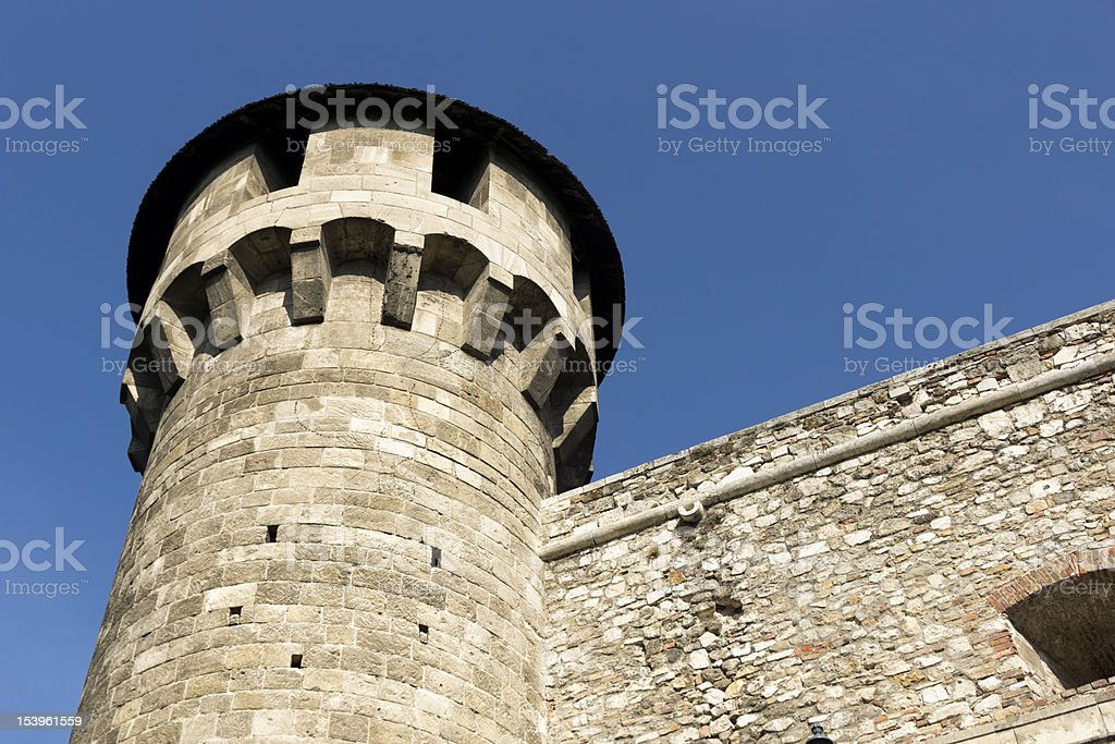 medieval bastion in Royal Palace of Buda, Budapest, royalty-free stock photo