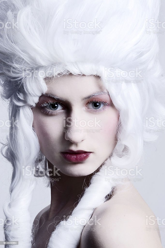 Medieval beauty portrait royalty-free stock photo