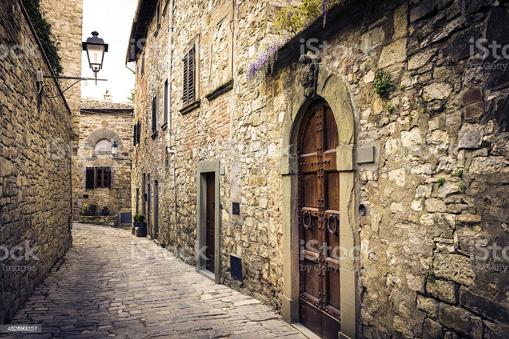 Medieval Borough in Tuscany stock photo