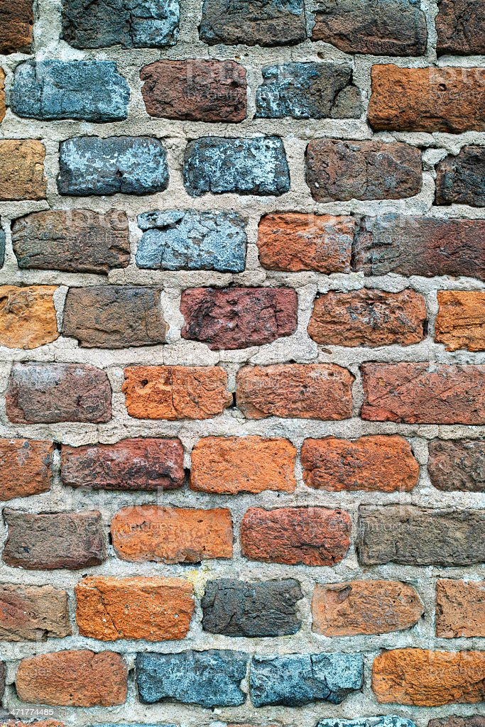 Medieval brick wall background. royalty-free stock photo