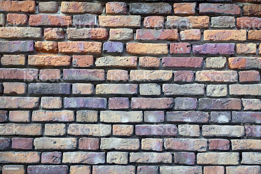 Medieval brick wall stock photo