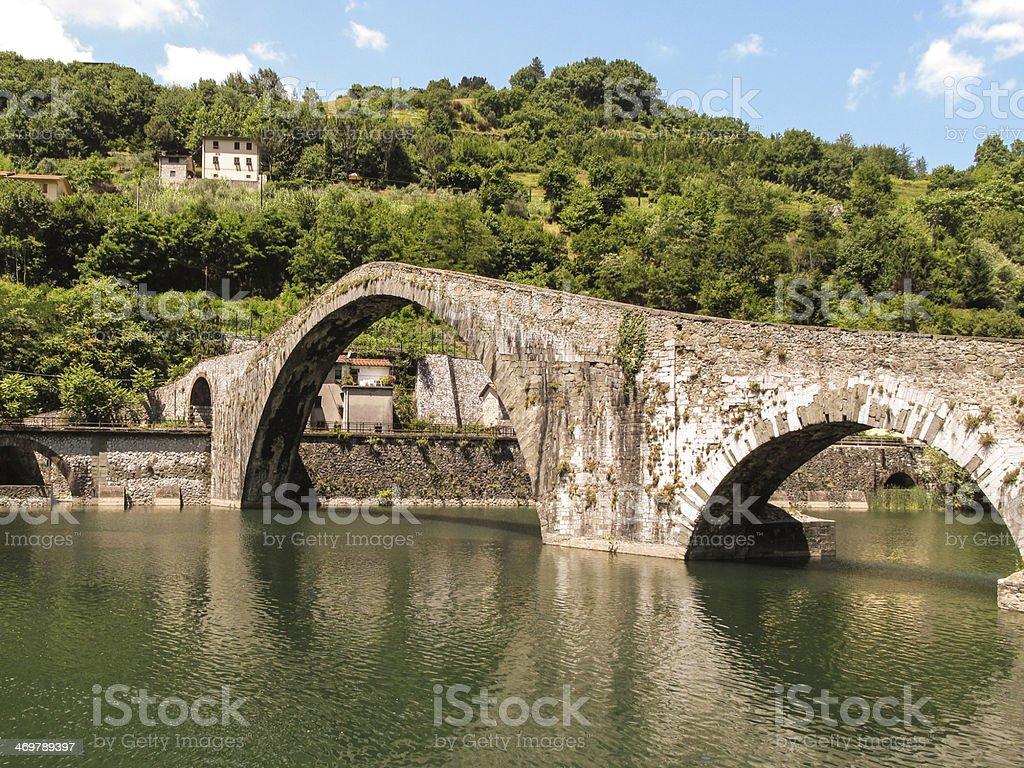 Medieval Bridge in Italy stock photo