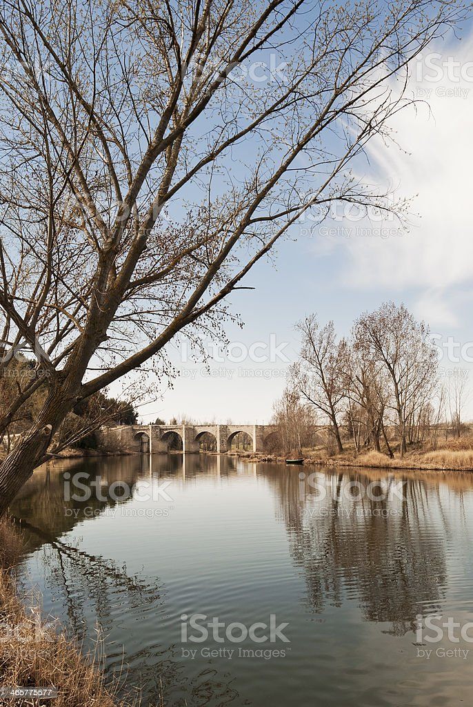 Medieval bridge royalty-free stock photo