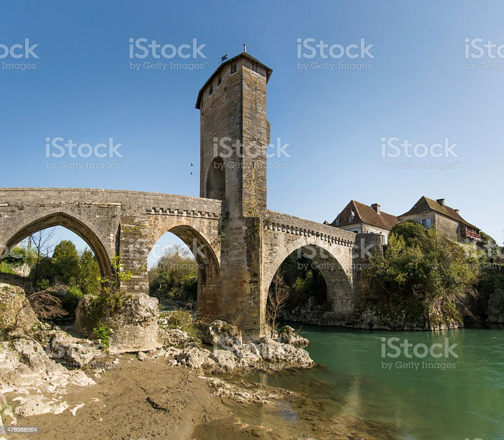 Medieval bridge stock photo