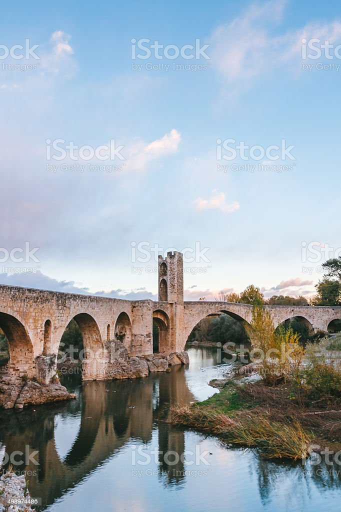 Medieval bridge stock photo