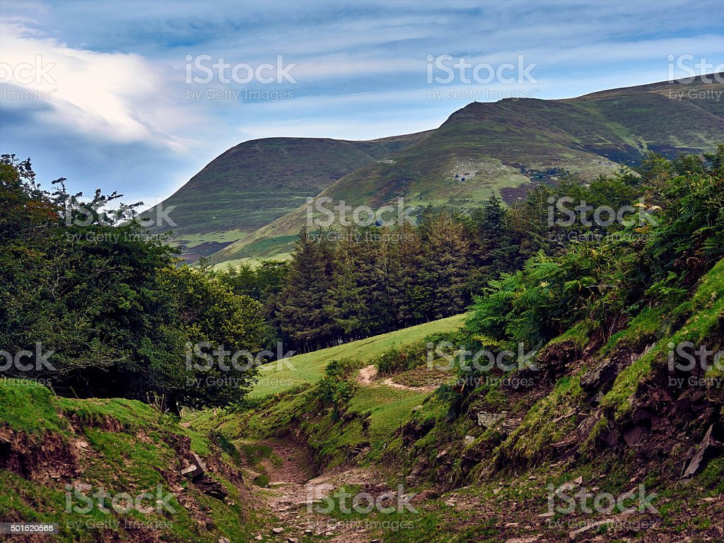 Medieval Bridleway - Black Mountains Wales UK stock photo