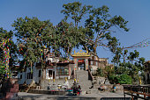 Medieval buildings and structures surrounding Swayambhunath stupa