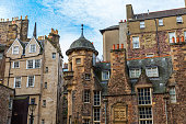 medieval buildings at Lady Stairs Close in Edinburgh, Scotland
