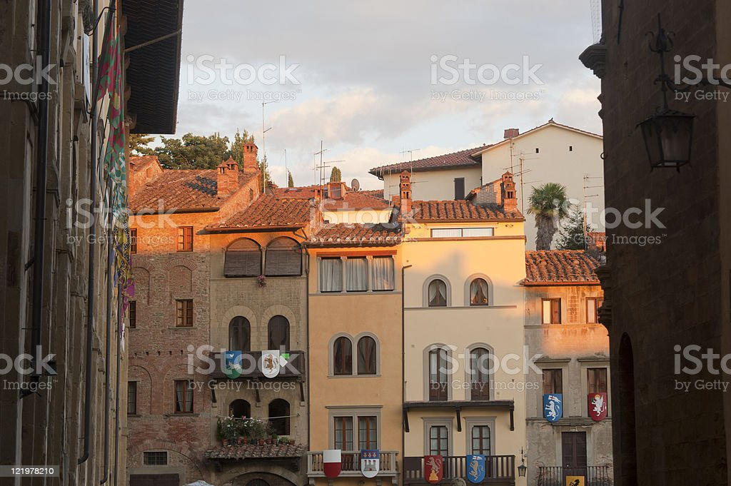 Medieval buildings in Arezzo (Tuscany, Italy) royalty-free stock photo