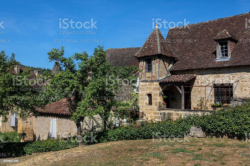 Medieval Buildings - Sarlat - France stock photo