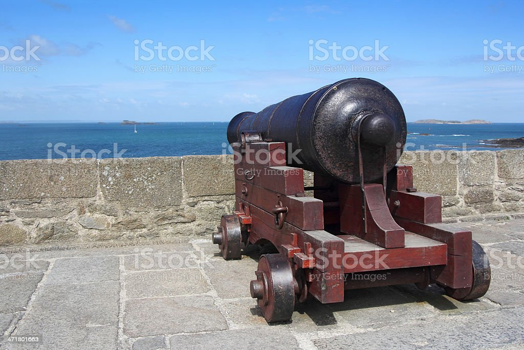 medieval cannon royalty-free stock photo