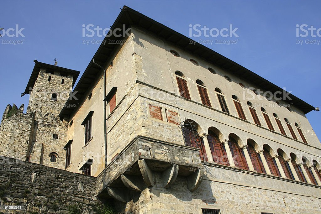 Medieval Castle corner royalty-free stock photo