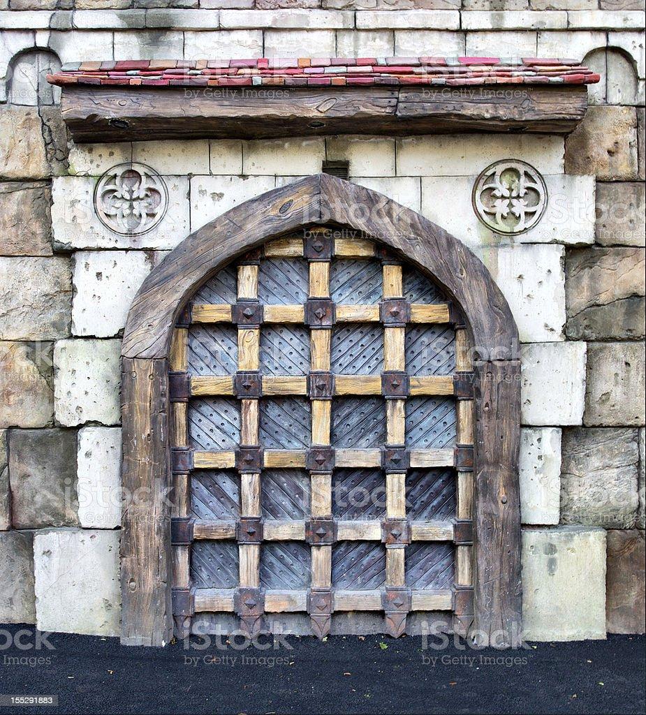 Medieval castle gates royalty-free stock photo