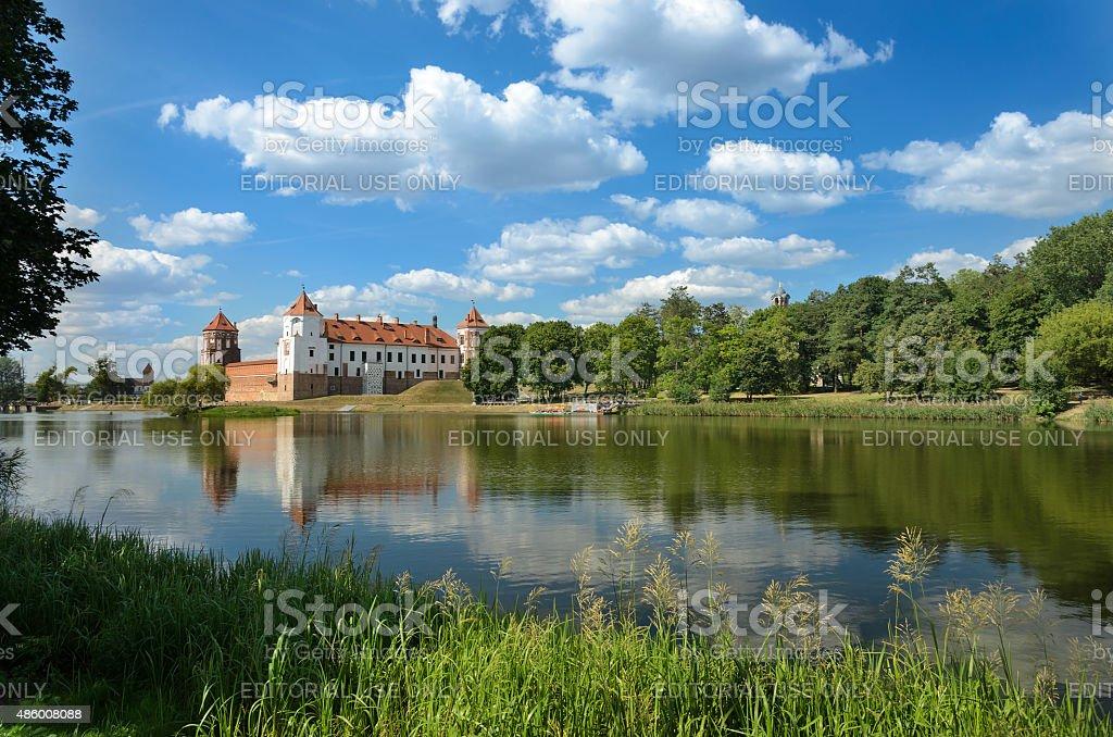 Medieval castle in  Belarus stock photo