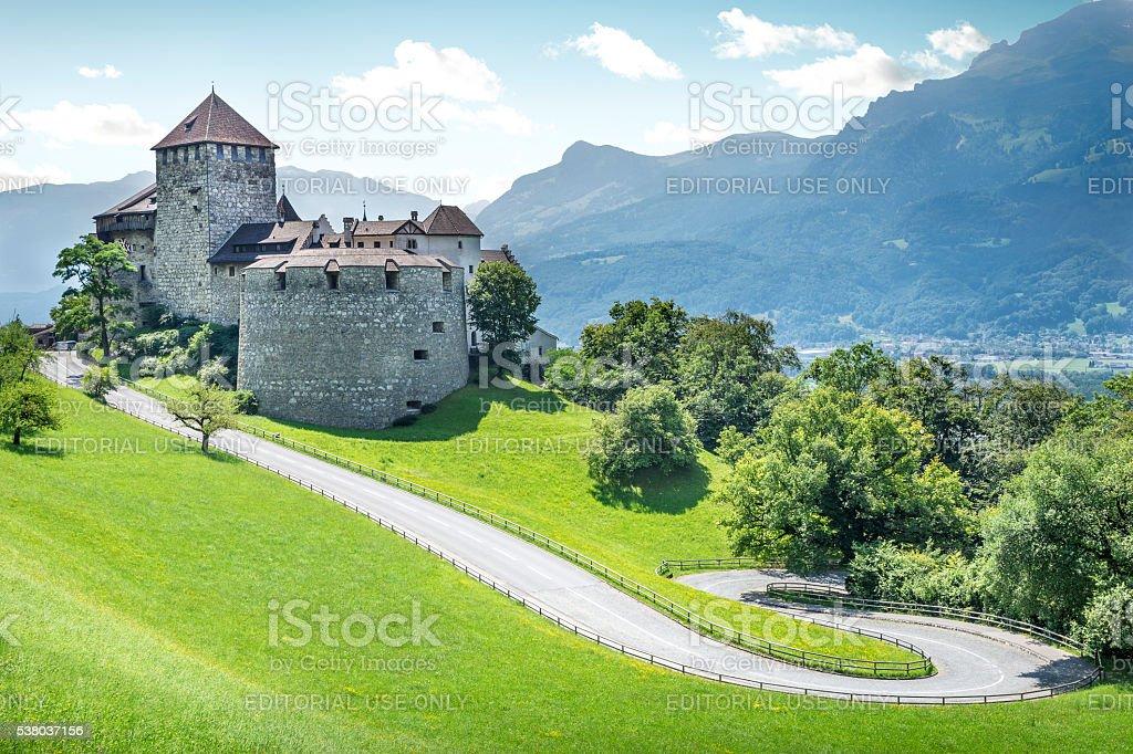 Medieval castle in Liechtenstein stock photo