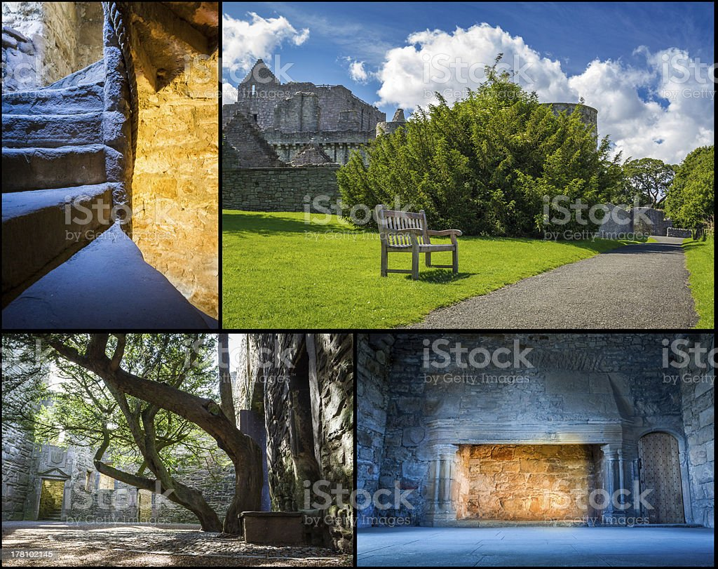 Medieval castle in summer Scotland royalty-free stock photo