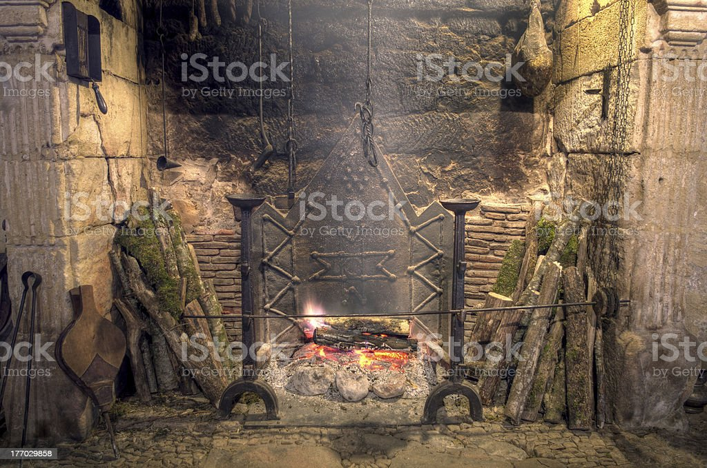 Medieval castle kitchen royalty-free stock photo