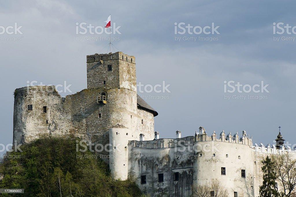 Medieval castle, Niedzica, Poland stock photo