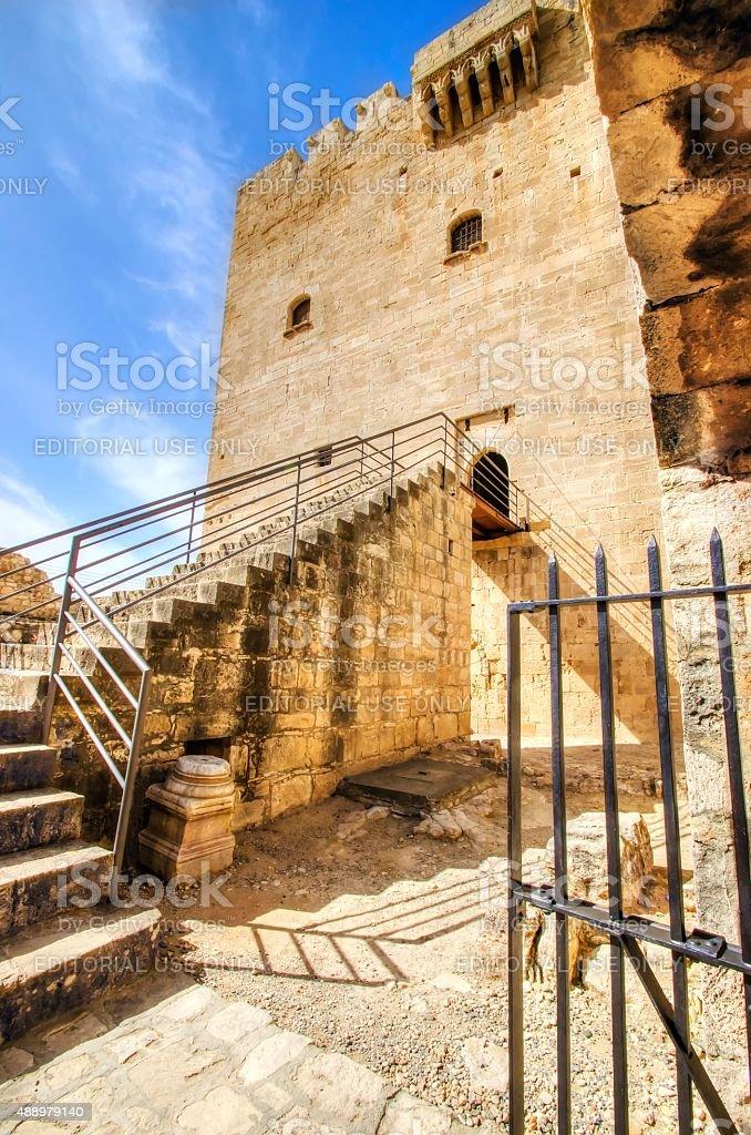 Medieval castle of Kolossi, Limassol, Cyprus stock photo