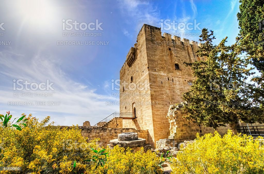 Medieval castle of Kolossi, Limassol, Cyprus stock photo