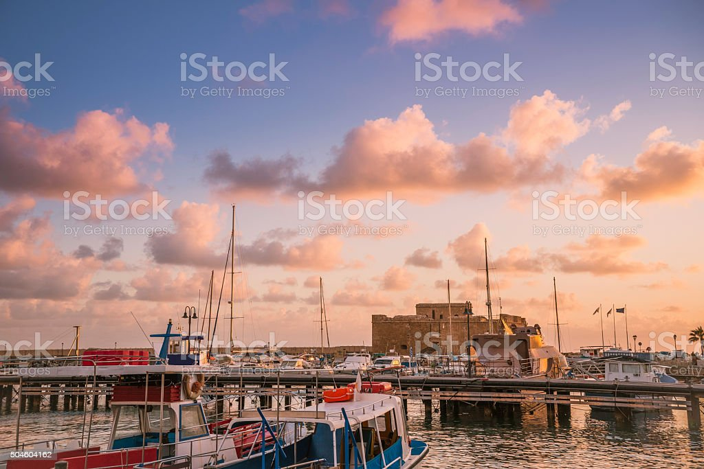Medieval Castle of Paphos. Cyprus stock photo
