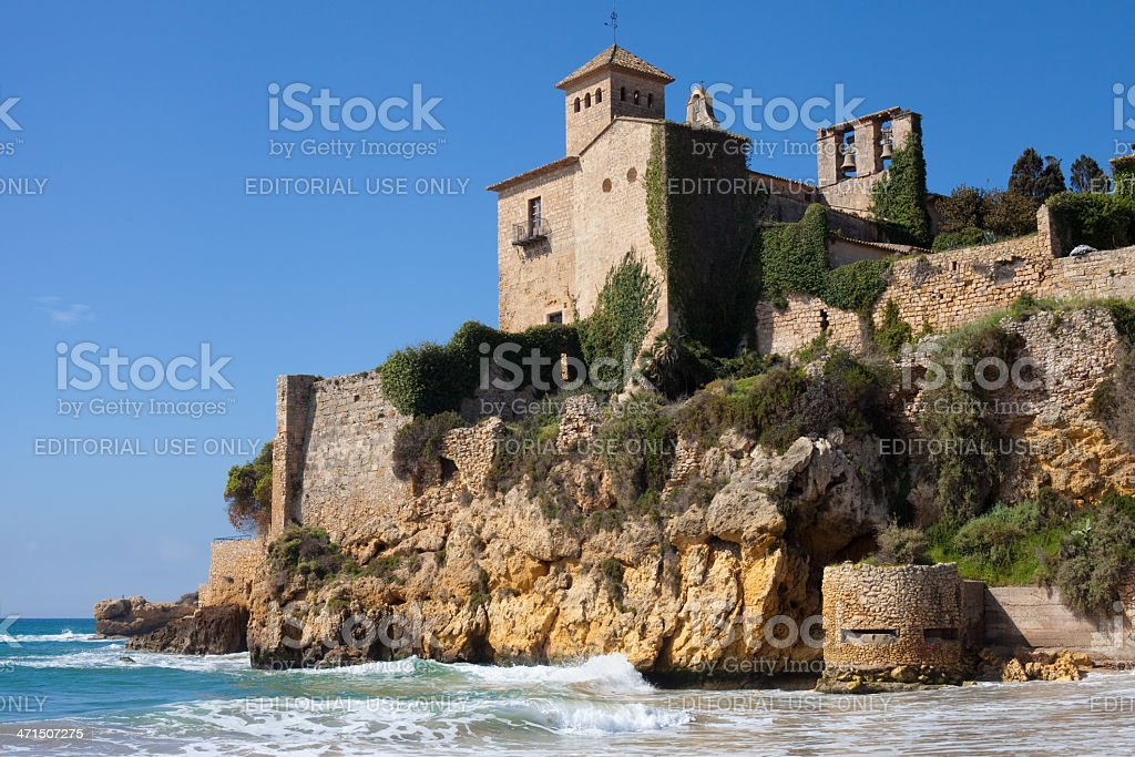 Medieval castle of Tamarit stock photo