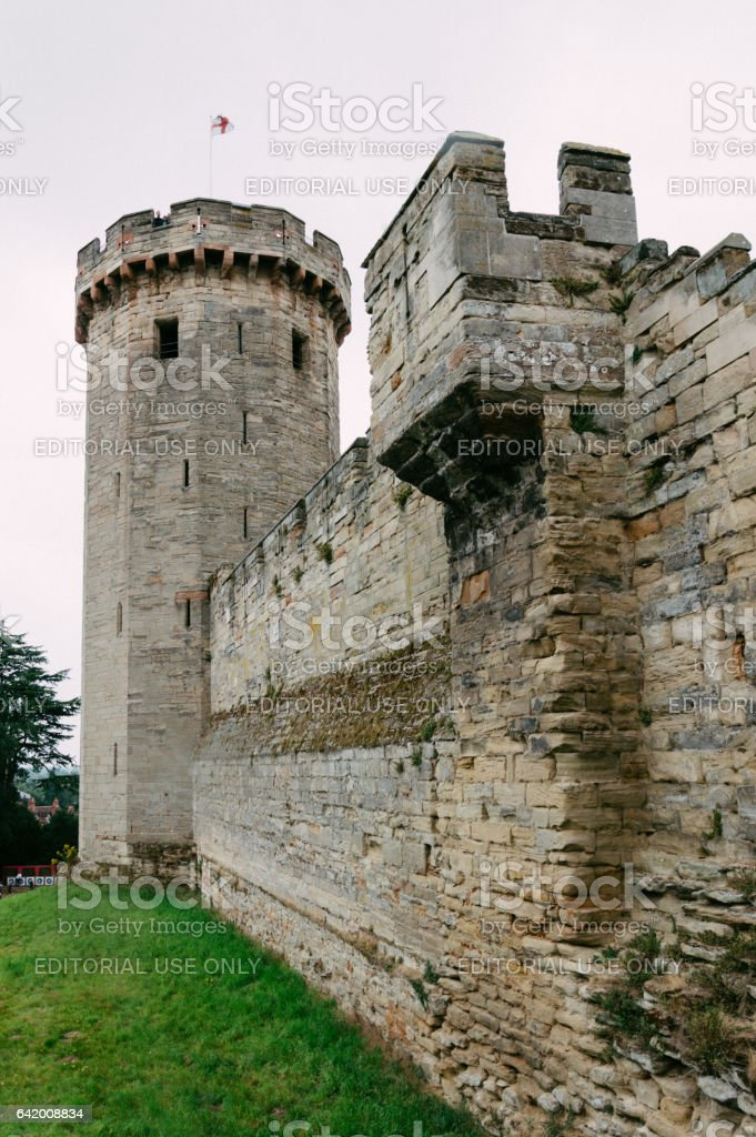 Medieval castle of Warwick stock photo