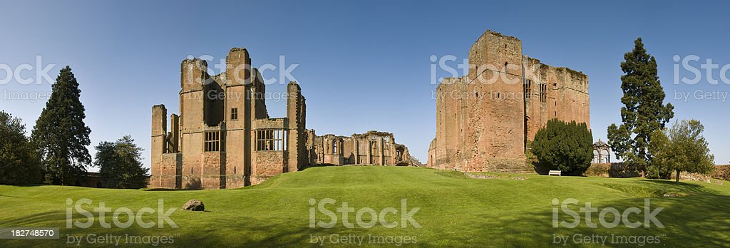 Medieval Castle Panorama royalty-free stock photo