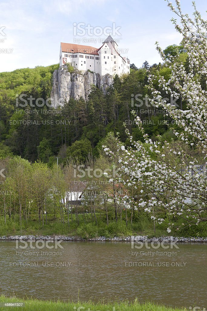 medieval castle Prunn stock photo